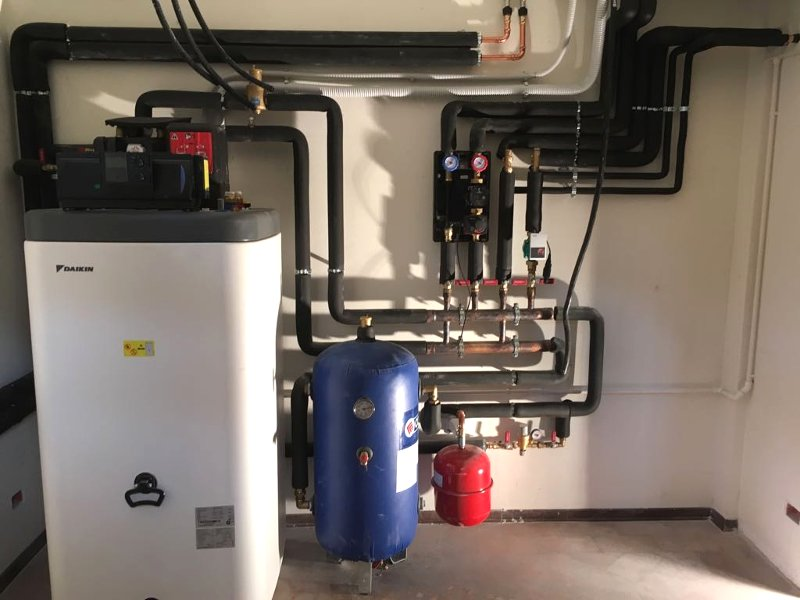 Impianto riscaldamento a pompa di calore Daikin