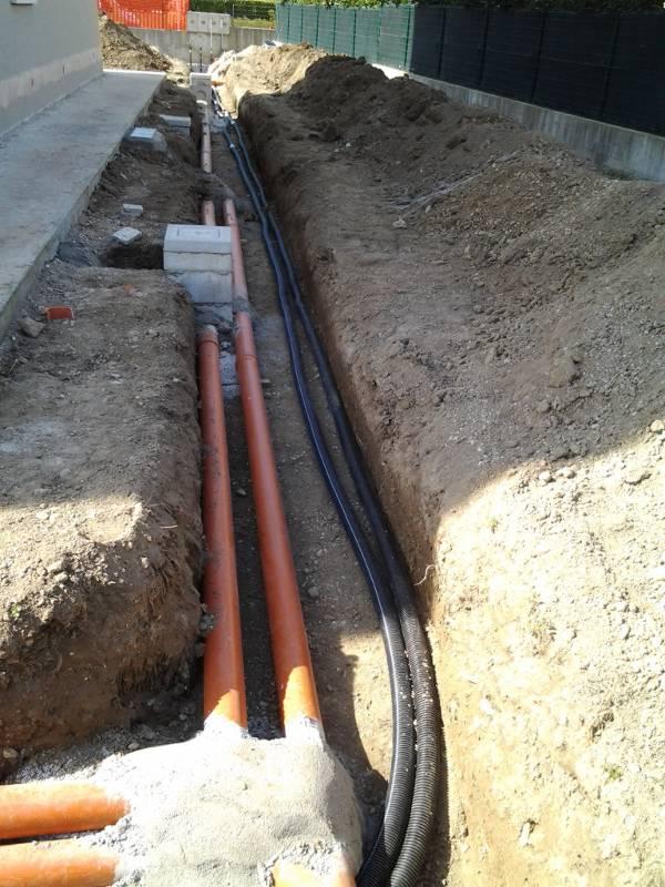 Realizzazione impianto di scarico acque