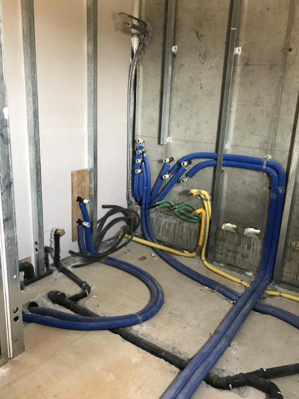 Realizzazione nuovo impianto idraulico per ristrutturazione edilizia