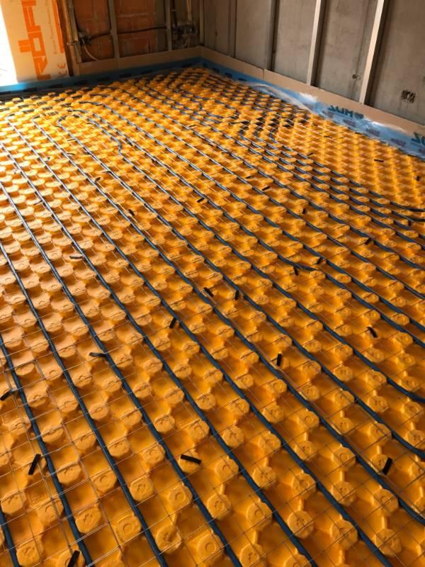 Riscaldamento a pavimento realizzato da Biscontin e Marcon