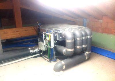 Impianto di ventilazione meccanica per casa clima