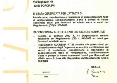 Certificazione F-GAS per manutenzione condizionatori